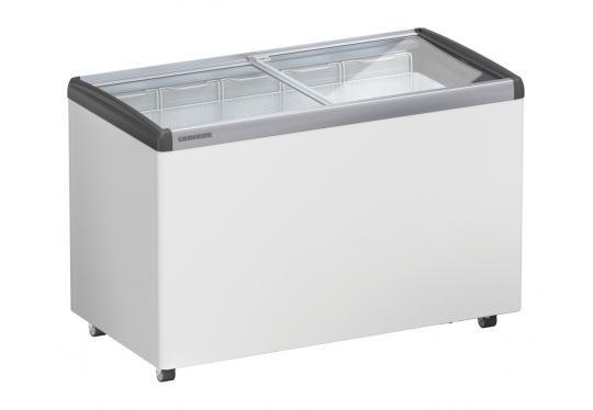 LIEBHERR EFE 3852 típusú, ipari, nagykonyhai, kereskedelmi fagyasztóláda, üvegtetős, LED világítás