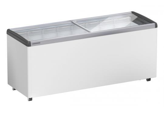 LIEBHERR EFE 6052 típusú, ipari, nagykonyhai, kereskedelmi fagyasztóláda, üvegtetős, LED világítás