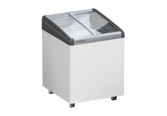 Liebherr EFI 1453 típusú, ipari, kereskedelmi fagyasztóláda, domború üvegtetős, LED világítás