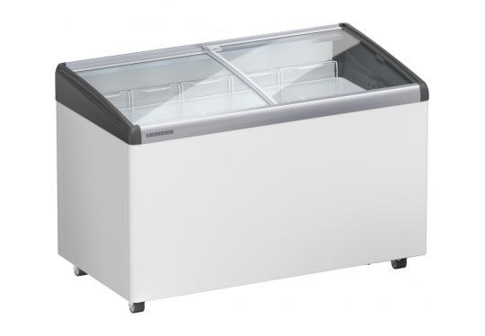 Liebherr EFI 3553 típusú ipari, kereskedelmi fagyasztóláda, domború üvegtetős, LED világítás