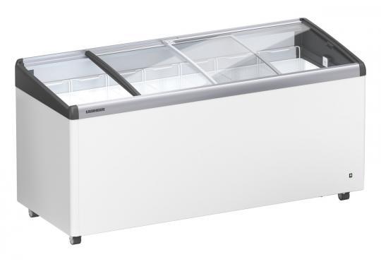 Liebherr EFI 4853 típusú, ipari, kereskedelmi fagyasztóláda, domború üvegtetős, LED világítás