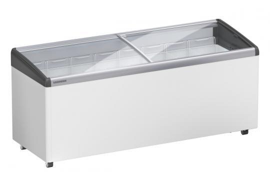 Liebherr EFI 5653 típusú ipari, kereskedelmi fagyasztóláda, domború üvegtetős, LED világítás